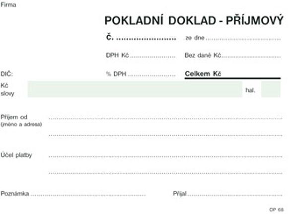 Příjmový pokladní doklad A6 NCR nečíslovaný (100listů)