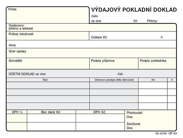 Výdajový pokladní doklad A6 NCR(100listů)