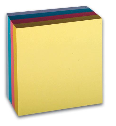 Bloček samolep. 76x76mm pastel 400l.CON