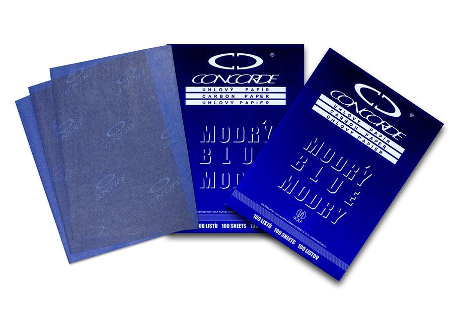 Kopírovací papír A4 uhlový modrý 25ks