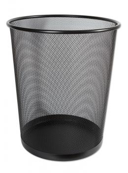 Koš odpadkový drátěný 26,5x28 černý menší