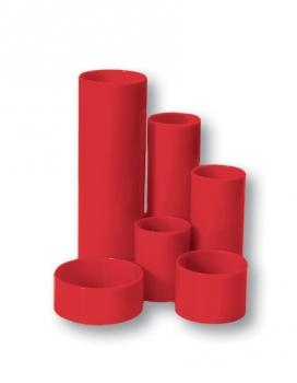 Stojánek na tužky válec 6 dílů červený
