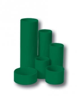 Stojánek na tužky válec 6 dílů zelený