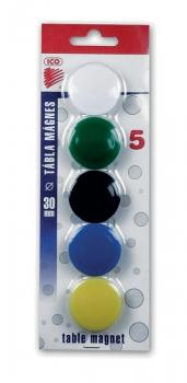 Magnety barevné ICO 30mm/5ks