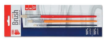 Štětce sada ICO4,8,12 barevné,ploché
