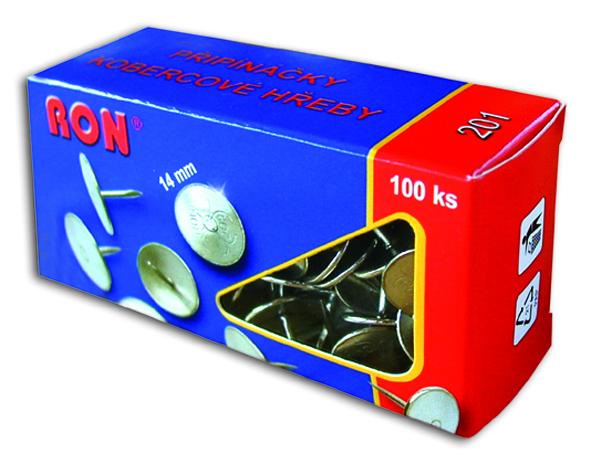 Připínáčky 201 14mm/100ks RON