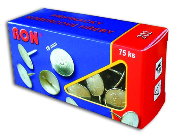 Připínáčky 202 16mm/75ks RON