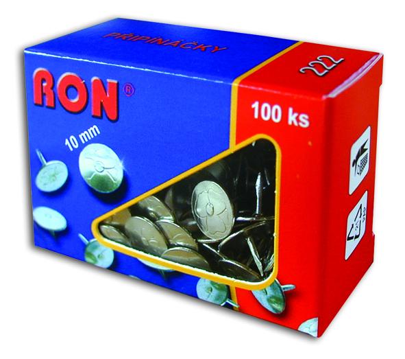 Připínáčky 222 10mm/100ks RON