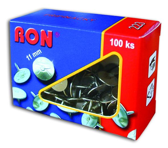 Připínáčky 223 11mm/100ks RON