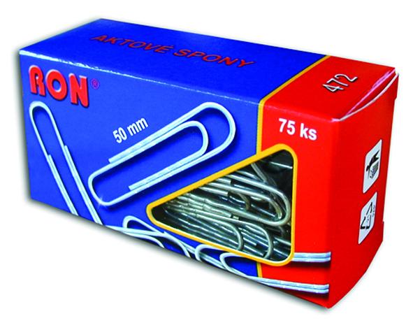 Spony dopisní 472 50mm aktové RON
