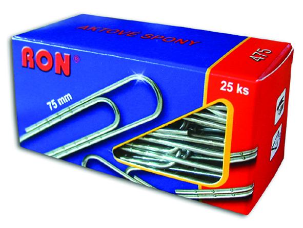 Spony dopisní 475 75mm aktové RON