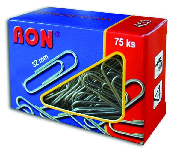 Spony dopisní 453 32mm/75ks RON