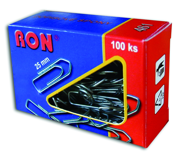 Spony dopisní 461 25mm/100ks RON