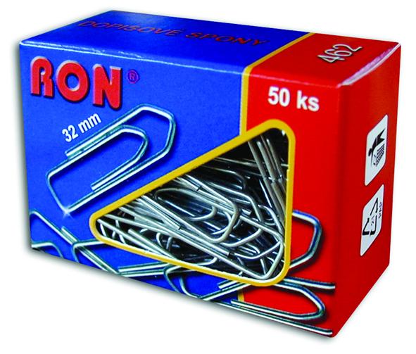 Spony dopisní 462 32mm/50ks RON