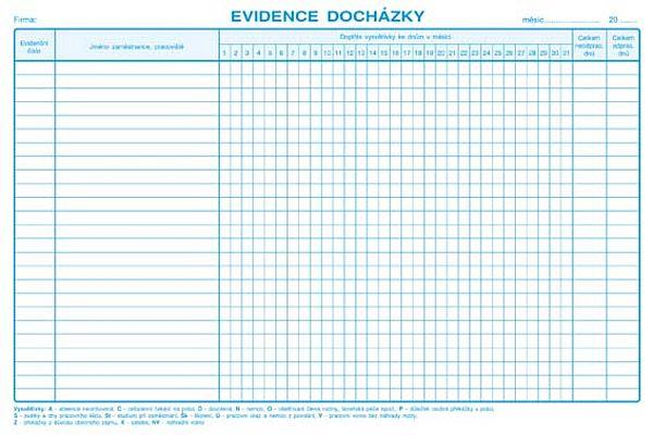Evidence docházky