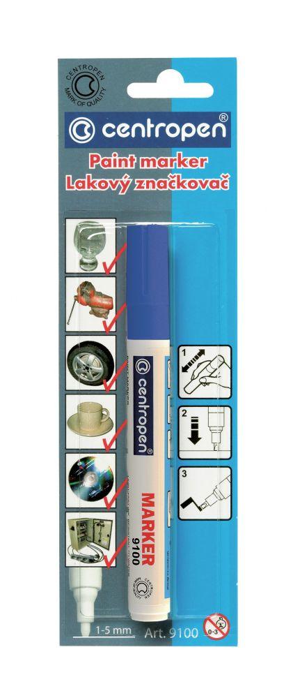 Značkovač 9100 modrý lakový 1-5mm