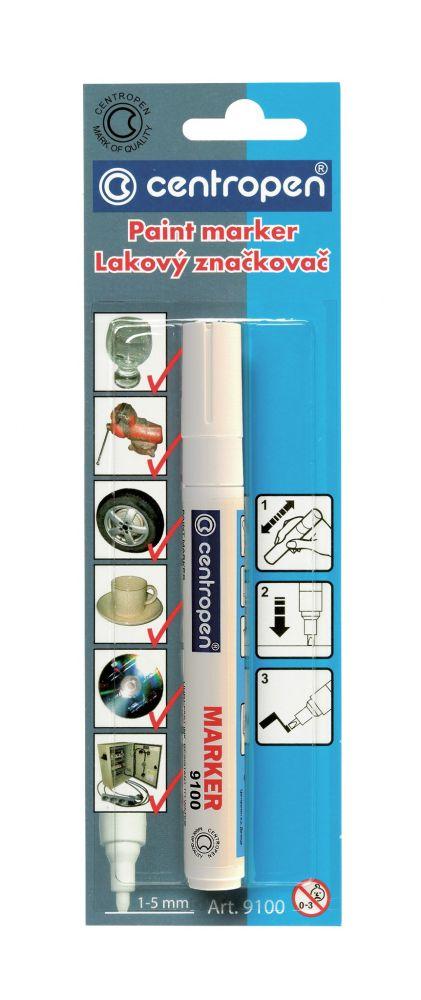 Značkovač 9100 bílý lakový 1-5mm