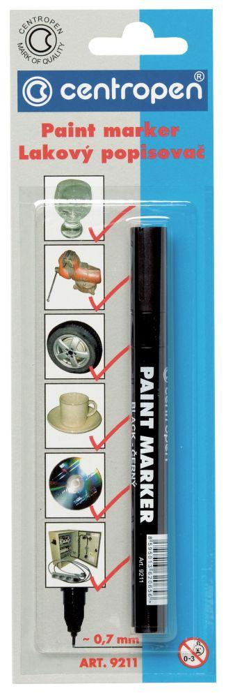 Značkovač 9211 černý lakový 0,7mm