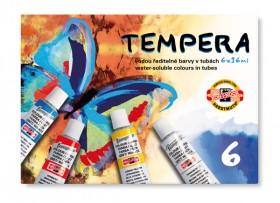Barvy temperové 6 barev 16ml KIN
