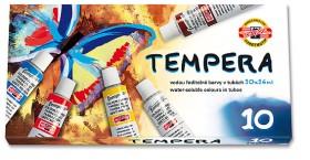 Barvy temperové 10 barev 16ml KIN