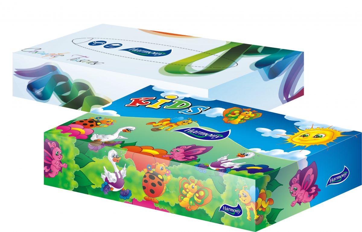 Kapesníky papírové v krabici 100ks 2vrstvé