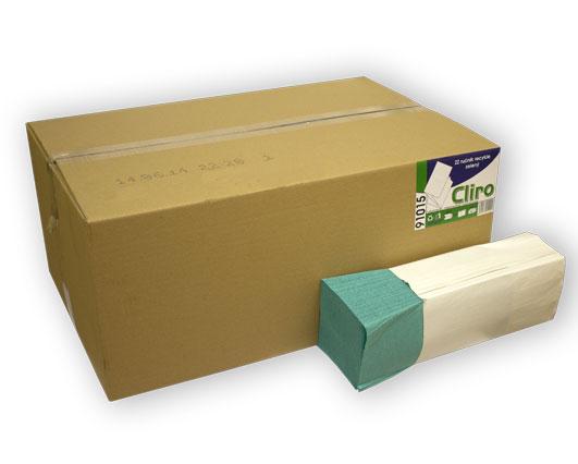 Papír.ručník Cliro Z-Z zelený
