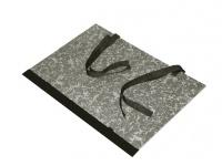Spisové desky s tkanicí černý mramor