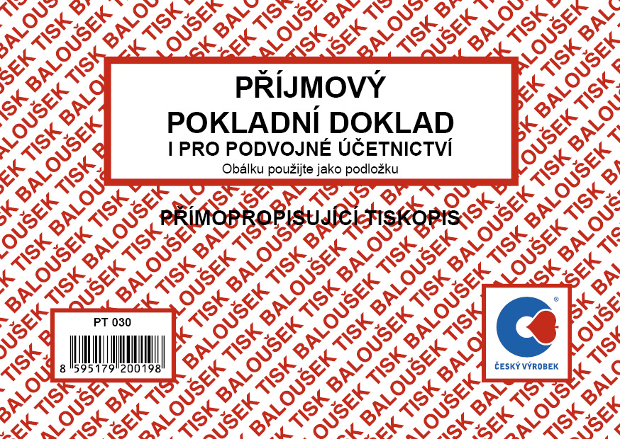 Příjmový pokl.doklad podv.PT030 NCR Bal.