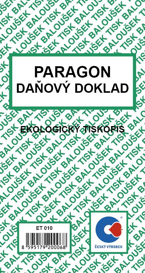 Paragon-daň.doklad ET010 Bal.