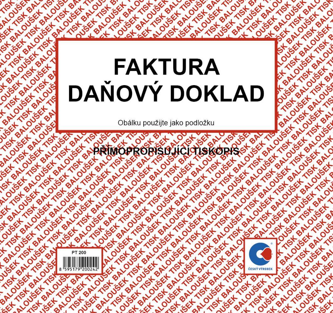 Faktura-daň.doklad PT200 2/3 A4 Bal.