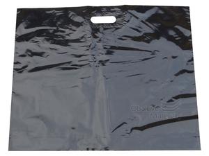 Taška plochá LDPE 50x60 průhmat černo-zlatá