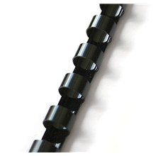 Plastový hřbet 8mm černý