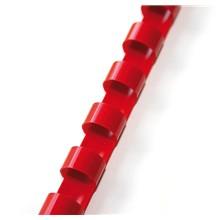 Plastový hřbet 8mm červený
