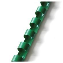 Plastový hřbet 8 mm zelený
