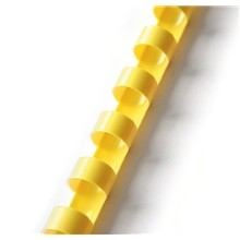 Plastový hřbet 16mm žlutý