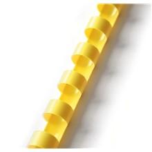 Plastový hřbet 25mm žlutý