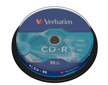CD-R Verbatim 700 MB 52xEP 10 cake