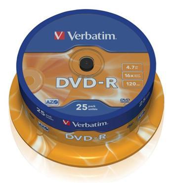 DVD-R Verbatim 4,7GB 16xcake 25ks