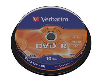 DVD-R Verbatim 4,7GB 16xcake 10ks