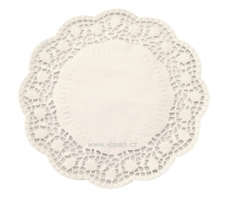 Krajky pod dorty d=32cm bílé