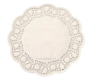 Krajky pod dorty d=30cm bílé