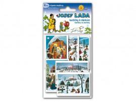 Jmenovky na dárky vánoční-J.Lada 6ks