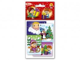 Jmenovky na dárky vánoční dětské 10ks