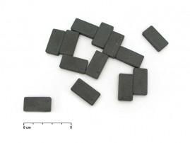 Magnet obdélník šedý 15x28mm