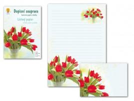 Dopisní papír barevný LUX Květy 2