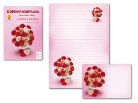 Dopisní papír barevný LUX Květy 3