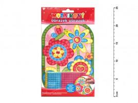 Mozaika Květiny 25x14cm